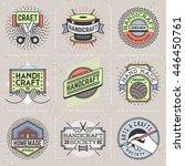 handicraft insignias color... | Shutterstock .eps vector #446450761