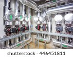 central heating system in the... | Shutterstock . vector #446451811