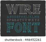 vintage look decorative wire... | Shutterstock .eps vector #446452261