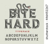 vintage angry font with high... | Shutterstock .eps vector #446452267