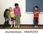 students standing in classroom. ...   Shutterstock . vector #44645293