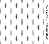 vector black white navajo aztec ... | Shutterstock .eps vector #446455747