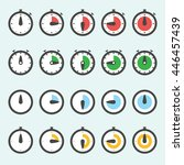 time clock icon set   can be... | Shutterstock .eps vector #446457439