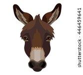 Vector Donkey Head Icon