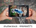 online store of men's shoes ... | Shutterstock . vector #446466571