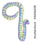 letter q hand painted worm | Shutterstock . vector #44646658