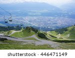panoramic view of the valley... | Shutterstock . vector #446471149