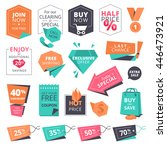 set of flat design style badges ... | Shutterstock .eps vector #446473921