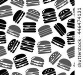 hamburgers types fast food... | Shutterstock .eps vector #446474131