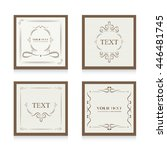 set of classic card  | Shutterstock .eps vector #446481745