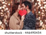 boyfriend and girlfriend... | Shutterstock . vector #446490454
