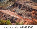 Open Coal Mining Pit With Heav...