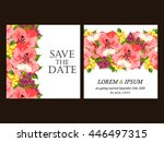 romantic invitation. wedding ... | Shutterstock . vector #446497315