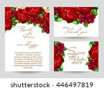 romantic invitation. wedding ... | Shutterstock . vector #446497819