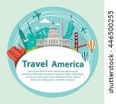 travel the world by plane... | Shutterstock .eps vector #446500255