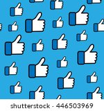 blue button hand pattern  like... | Shutterstock .eps vector #446503969