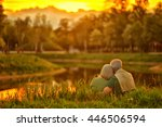 mature couple   in summer park | Shutterstock . vector #446506594