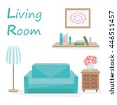 set of furniture from sofa ... | Shutterstock . vector #446511457