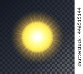 vector yellow sun with rays.... | Shutterstock .eps vector #446515144