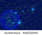 technology abstract background   Shutterstock .eps vector #446520544