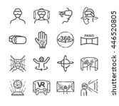 virtual reality gaming icons.... | Shutterstock .eps vector #446520805