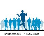 people running. sport... | Shutterstock . vector #446526835