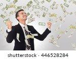 money increase .businessman... | Shutterstock . vector #446528284