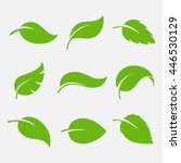 leaves icon vector set isolated ...
