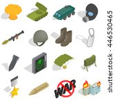 war icons set in isometric 3d...