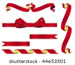 ribbons collection | Shutterstock .eps vector #44653501