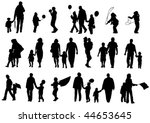 vector drawing of parents with... | Shutterstock .eps vector #44653645