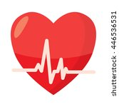 heartbeat icon in cartoon style ... | Shutterstock . vector #446536531