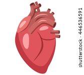 human heart icon in cartoon... | Shutterstock . vector #446536591