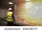 work place in the system... | Shutterstock . vector #446538727