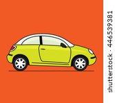 small simple car illustration | Shutterstock .eps vector #446539381