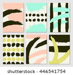 a set of modern templates with... | Shutterstock .eps vector #446541754