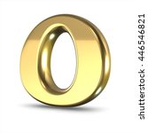 3d cute gold metal letter o... | Shutterstock . vector #446546821