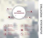 vector infographics with medic...   Shutterstock .eps vector #446547661