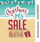 christmas in july sale... | Shutterstock .eps vector #446548987