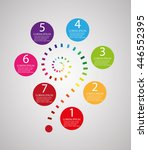 infographic templates for... | Shutterstock .eps vector #446552395