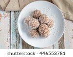 coconut snow balls   Shutterstock . vector #446553781