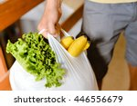 male carrying bag in his hand... | Shutterstock . vector #446556679