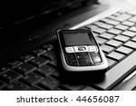business concept   mobile phone ... | Shutterstock . vector #44656087