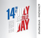 france. 14 th of july. happy... | Shutterstock .eps vector #446564629
