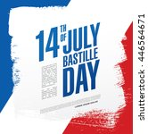 france. 14 th of july. happy... | Shutterstock .eps vector #446564671