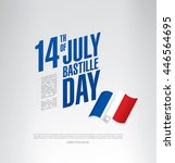 france. 14 th of july. happy... | Shutterstock .eps vector #446564695
