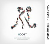 people sports hockey vector | Shutterstock .eps vector #446568997