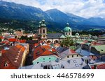 panoramic view of old town's... | Shutterstock . vector #446578699