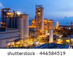 cement factory at sunset | Shutterstock . vector #446584519