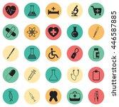 vector illustration medical set ... | Shutterstock .eps vector #446587885